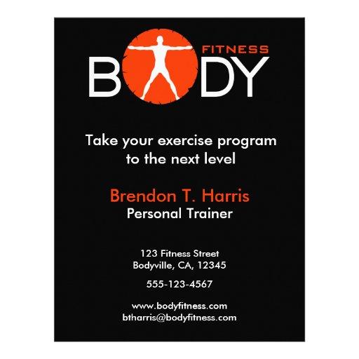 Body madness fitness personal trainer flyers custom flyer zazzle