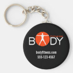 Body Madness Fitness Personal Trainer Key Rings Basic Round Button Key Ring
