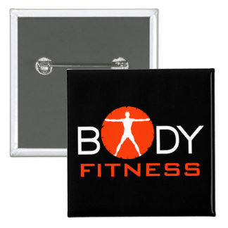 Body Madness Fitness Vitruvian Man Square Buttons