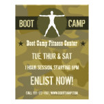 Body Madness Green Camo Boot Camp Fitness Flyers