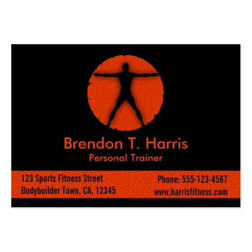 Personal Trainer Business Cards to pin on Pinterest