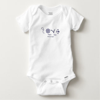 body marine Love Baby Onesie