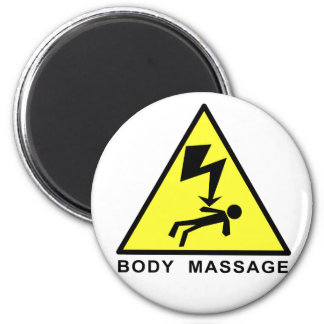 Body Massage Sign Magnet