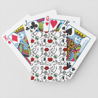 Body parts poker deck