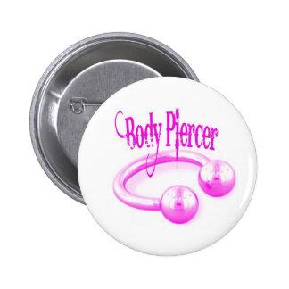 Body Piercer Button in Pink
