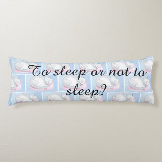 Body pillow with cats and quote