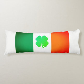Body Pillow with Irish Flag and Shamrock