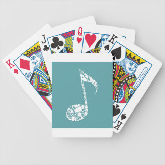 Body the note bicycle playing cards