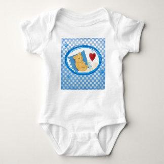Body with sleeping Bärchen for boys Baby Bodysuit