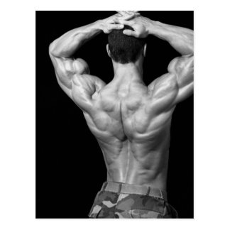 Bodybuilder Back Postcard