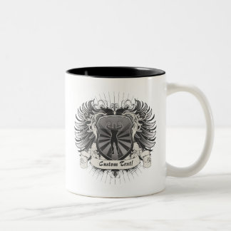 BodyBuilder Crest Two-Tone Coffee Mug