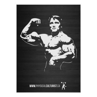 Bodybuilder Flexing Bicep Posters