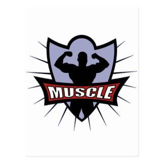 Bodybuilder Muscle Logo Postcard