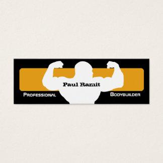 Bodybuilder Pro Orange Black Business Card