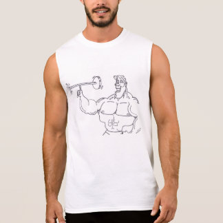 Bodybuilder Show Off Sleeveless Shirt