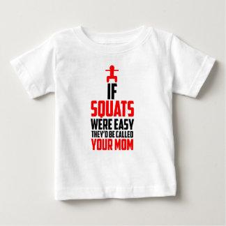 bodybuilder squats baby T-Shirt