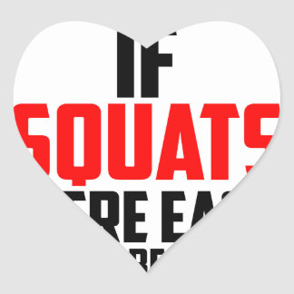 bodybuilder squats heart sticker