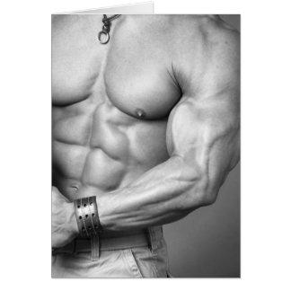 Bodybuilder Torso Notecard Note Card