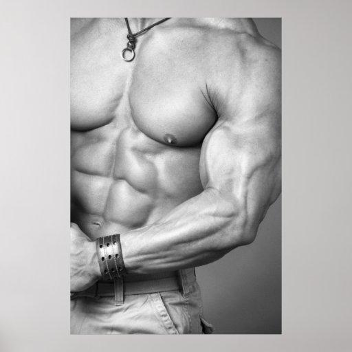 Bodybuilder Torso Poster