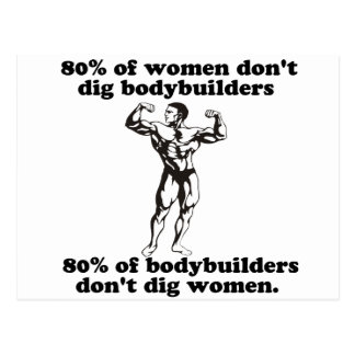 Bodybuilding Gay humor Postcard