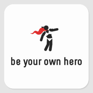 Bodybuilding Hero Square Sticker