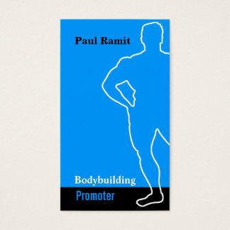 Bodybuilding Promoter Blue Black Business Card