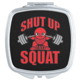 Bodybuilding - Shut Up And Squat - Kawaii Leg Day Travel Mirror