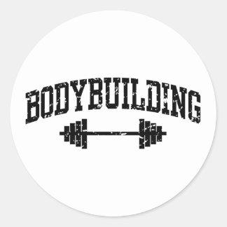 Bodybuilding Round Stickers