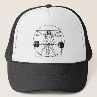 Bodybuilding - Vitruvian Barbell Man Trucker Hat