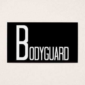 Bodyguard Black and White Business Card