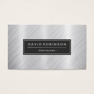 Bodyguard - Modern Brushed Metal Look Business Card