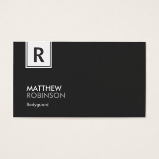 Bodyguard - Modern Classy Monogram Business Card