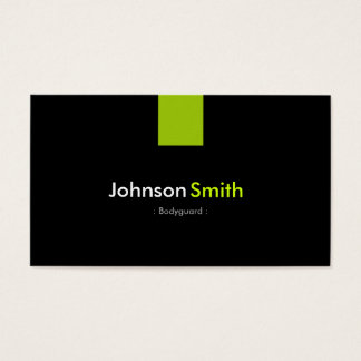 Bodyguard Modern Mint Green Business Card