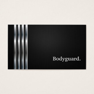 Bodyguard Professional Black Silver Business Card