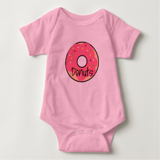 Bodystocking in jersey for baby Donut Pink Baby Bodysuit