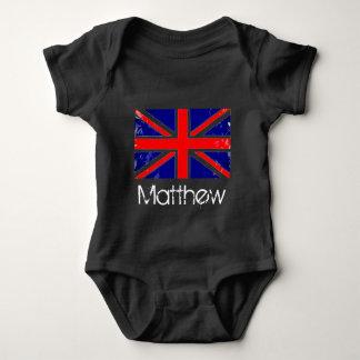 Bodystocking in jersey for baby, Flag the U.K. Baby Bodysuit