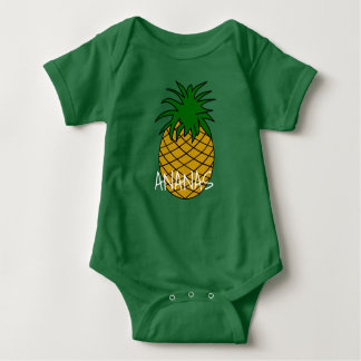 Bodystocking in jersey for baby Pineapple Baby Bodysuit