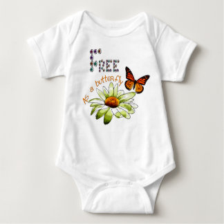 """Bodystocking white baby, """"Free ace has butterfly"""", Baby Bodysuit"""