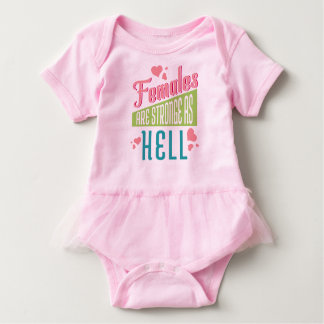 Bodysuit pink  love Females are Stronge As Hell