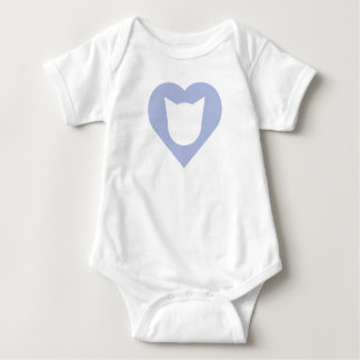 Bodysuit with Baby Blue Heart and Cat