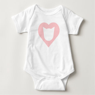 Bodysuit with Baby Pink Heart and Cat