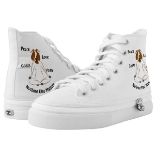 Boer Goat | PEACE LOVE GOATS YOGA   | GetYerGoat Printed Shoes
