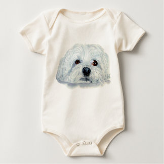 Bogart the Maltese Infant Organic Creeper