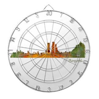 Bogota City Colombia Cundinamarca Skyline v01 Dartboard