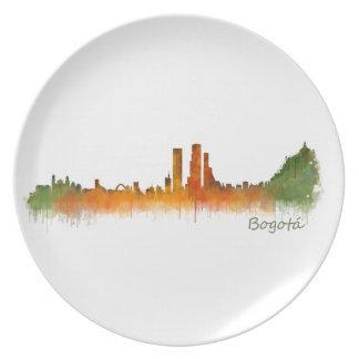 Bogota City Colombia Cundinamarca Skyline v02 Plate