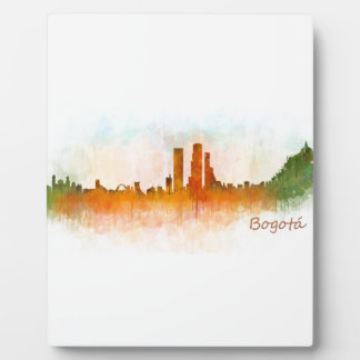 Bogota City Colombia Cundinamarca Skyline v03 Photo Plaque
