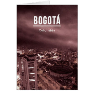 Bogota, Colombia Card