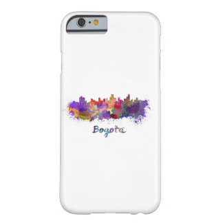 Bogota skyline in watercolor barely there iPhone 6 case