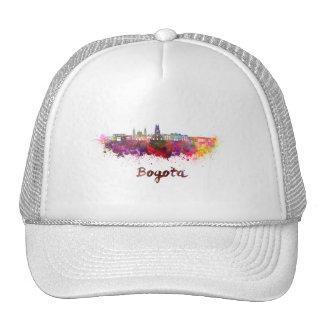 Bogota v2 skyline in watercolor cap