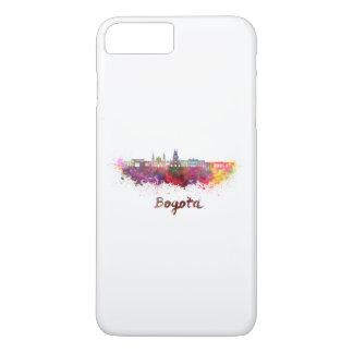 Bogota v2 skyline in watercolor iPhone 8 plus/7 plus case